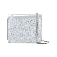 Just Cavalli embroidered butterfly shoulder bag - メタリック