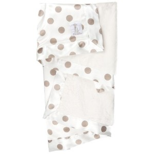 Little Giraffe Luxe Cream Dot Baby Blanket (Flax)