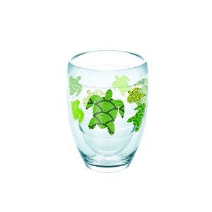 Tervis 1243000TurtleパターンStemlessワインガラス、9オンス、クリア