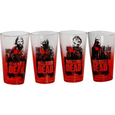 AMC The Walking Dead RedゾンビウォーカーPint Glassesのセット4