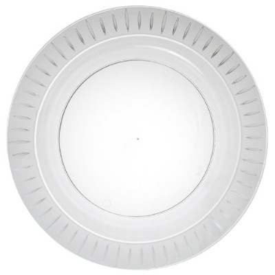 Party Essentials Elegance Quality Hard Plastic 26cm Round Party/Dinner Plates, Clear, 14 Count