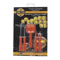 (6-Piece Set) - R & M International 3290 Halloween 6-Piece Pumpkin Carving Set with 5 Tools and 12...