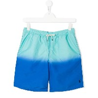 Ralph Lauren Kids TEEN dégradé drawstring shorts - ブルー