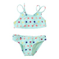 ROXY  Bikini Rainbow Dots Athletic Set 水着(ビキニ) ライトグリーン