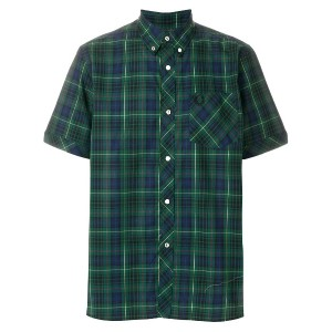 Fred Perry X Art Comes First button down check shirt - グリーン