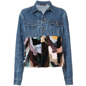 Harvey Faircloth contrast denim jacket - ブルー