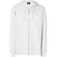 Stussy zipped hooded sweatshirt - グレー