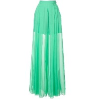 Delpozo sheer flared trousers - グリーン
