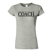 Coach Trainer Sport Funny Novelty Sports Grey Women T Shirt Top-XXL