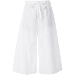 Vince cropped wide leg trousers - ホワイト