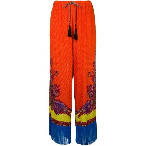 Etro printed wide-leg trousers - イエロー&オレンジ