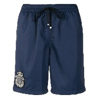 Billionaire knee-length swim shorts with patch embellishment - ブルー
