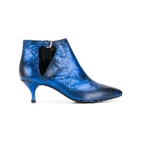 Strategia pointed toe booties - ブルー