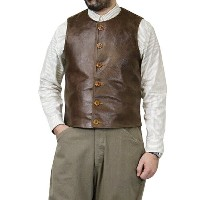 FREEWHEELERS フリーホイーラーズ JERKIN SHORT LENGTH 1910s WWI U.S. CIVILIAN MILITARY STYLE TATANKA BROWN...