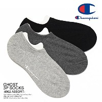 (チャンピオン)CHAMPION GHOST 3P SOCKS -#902 ASSORT- cmscm501 902ASSORT M(25~27cm)