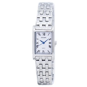Citizen Women's Quartz Stainless Steel Casual Watch Silver-Toned 腕時計 [シチズン] 日本製クォーツ EJ6120-54A...