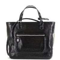 COACH/コーチ ポピー テクスチャード パテント スモール ブレア トート 25042 ブラック POPPY SMALL BLAIRE TOTE IN TEXTURED PATENT...