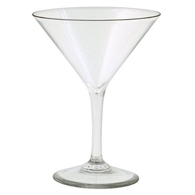 Strahl Martini Glass ( Set of 4 )、8オンス、クリア