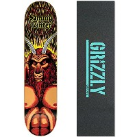 """Clicheスケートボードデッキ冬Satan 8.25"""" with Grizzly Griptape"""