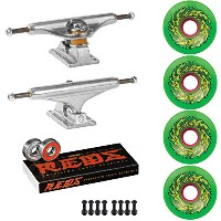 Independent Trucks Santa Cruzスケートボード60 mm OG SlimeホイールパッケージReds