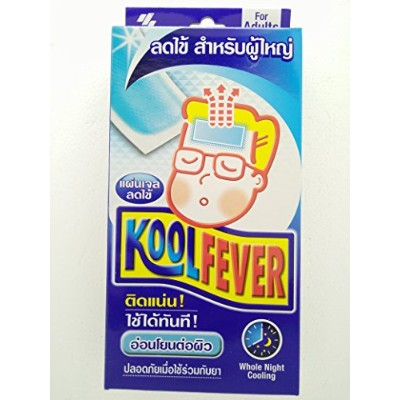 3 pack of Blue Kool fever Adult plaster Reduce fever quickly Easy to use(1 pack contain 6 sheets)