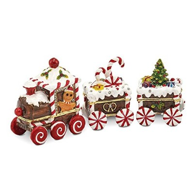 Bejeweled candy cane train Trinketボックス