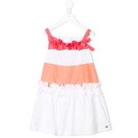Simonetta ruffle-trimmed dress - ホワイト