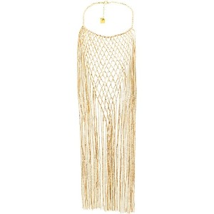 Rosantica long fringed necklace - メタリック
