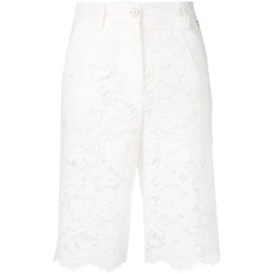 Twin-Set embroidered knee length shorts - ホワイト