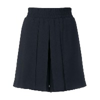 Emporio Armani pleated mini skirt - ブルー