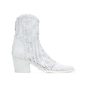 Alyx woven ankle boots - ホワイト