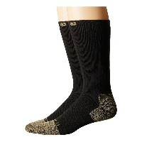 カーハート メンズ 靴下 アンダーウェア Full Cushion Steel Toe Cotton Work Boot Socks 2-Pack Black