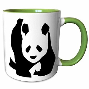 3dローズPS Creations – Panda Bear – 動物 – 可愛いアート – マグカップ 11-oz Two-Tone Green Mug mug_51358_7