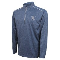 NCAAメンズQuarter Zip with Shoulder Piping Polo XL