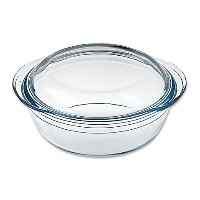 O料理2.4 QT。Round Casserole Dish with Lid