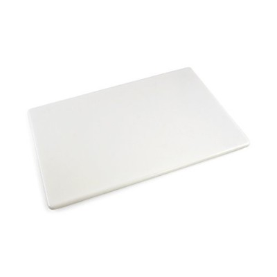 (White) - Commercial Plastic Cutting Board NSF, Extra Large - 24 x 46cm x 1.3cm (White)