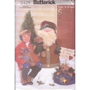 Butterickパターン–Porchサンタ&トナカイ–One Size–6425