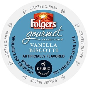 Folgers Gourmet Selections Single Cup for Keurig Brewers, Vanilla Biscotti, 24 Count by Folgers