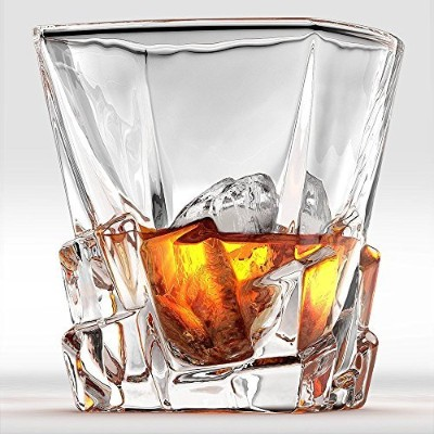 Iceberg Whiskey Glasses - Set Of 2. Perfect Whisky Glass or Scotch Glasses. by Ashcroft Fine...