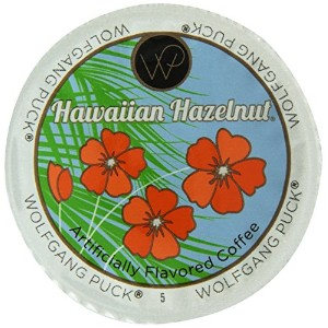 Wolfgang Puck Hawaiian Hazelnut Flavored Coffee Single Serve Cups for Keurig, 24 Count by Wolfgang Puck