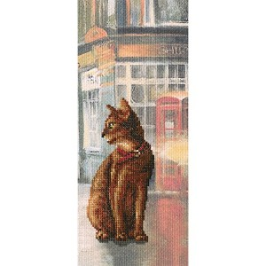 """Cats in Town Iクロスステッチkit-4.5"""" x10.75"""" 14カウント"""