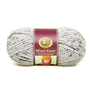 Lion Wool-Ease Thick and Quick 毛糸 超極太 グレー系 141g 約80m