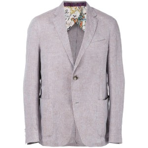 Etro single-breasted blazer - グレー