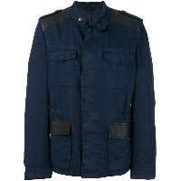 Etro button-down military jacket - ブルー