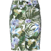 Marc Cain leaf print skirt - グリーン