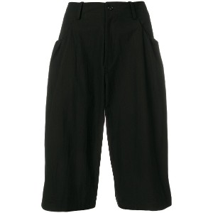 Y's wide leg cropped pants - ブラック