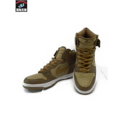 NIKE DUNK HI メイアタック HAY/MAPLE-TAUPE-WHITE 26.0【中古】