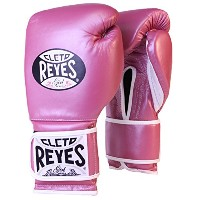 Cleto Reyes Hook and Loop レザー Training Boxing グローブ - 12 oz - ピンク メタリック (海外取寄せ品)