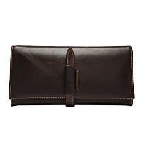 Zhhlinyuan メンズ 財布 大容量 Luxury Durable First Cowhide Leather Bifold Long Purse Multi-Card Wallet...