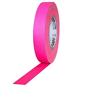 Pro Tapes Pro-Gaff-Neon Premium Fluorescent Gaffers Tape: 1 in. x 50 yds. (Fluorescent Pink) [並行輸入品]
